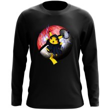 Funny Long Sleeve Tops - The Emperor Palpatine and Pikachu ( Parody)