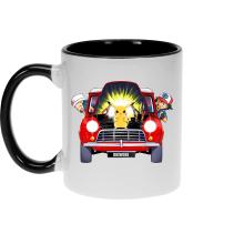 Mugs  parodique Pikachu, Sasha et Aurore : Pika dépannage (Parodie )
