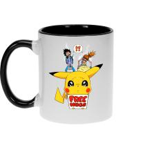 Mug  parodique Pikachu - Free Hugs : Pika Free Hugs :) (Parodie )