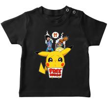 T-shirt bébé  parodique Pikachu - Free Hugs : Pika Free Hugs :) (Parodie )