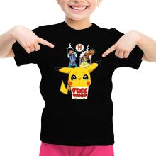 T-shirt Enfant Fille  parodique Pikachu - Free Hugs : Pika Free Hugs :) (Parodie )