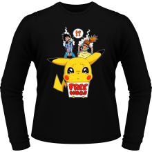 T-Shirts à manches longues  parodique Pikachu - Free Hugs : Pika Free Hugs :) (Parodie )