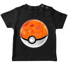T-shirt bébé  parodique La Poké Ball de Pikachu : Pika Pas Cool ! (Parodie )