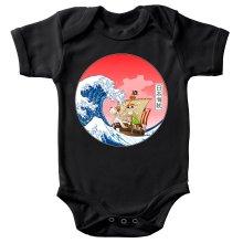 Body bébé  parodique La Grande Vague de Kanagawa et le Vogue Merry : Pirates en mer du Japon... :) (Parodie )
