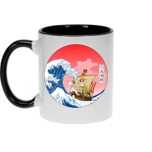 Mugs  parodique La Grande Vague de Kanagawa et le Vogue Merry : Pirates en mer du Japon... :) (Parodie )