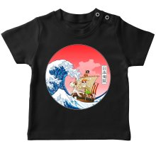 T-shirts  parodique La Grande Vague de Kanagawa et le Vogue Merry : Pirates en mer du Japon... :) (Parodie )