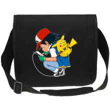 Sac bandoulière Canvas  parodique Pikachu : Plus de problème de batterie !! (Parodie )