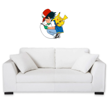 Sticker Mural  parodique Pikachu : Plus de problème de batterie !! (Parodie )