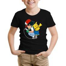 T-shirt Enfant  parodique Pikachu : Plus de problème de batterie !! (Parodie )