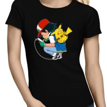 T-shirts Femmes  parodique Pikachu : Plus de problème de batterie !! (Parodie )