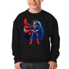 Sweat-shirts  parodique All Might X Superman : Super AllMight man :) (Parodie )