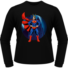 T-Shirts à manches longues  parodique All Might X Superman : Super AllMight man :) (Parodie )