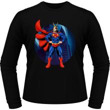 T-Shirts à manches longues  parodique All Might X Superman : Super AllMight man :) (Parodie )