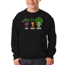 Sweat-shirts  parodique Sangoku, Broly et Raditz : Super Héros de la Planète Végétale (Parodie )
