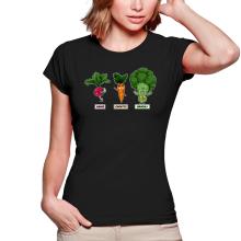 T-shirts Femmes  parodique Sangoku, Broly et Raditz : Super Héros de la Planète Végétale (Parodie )