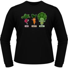 T-Shirts à manches longues  parodique Sangoku, Broly et Raditz : Super Héros de la Planète Végétale (Parodie )