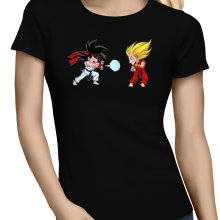 T-shirts Femmes  parodique Sangoku et Végéta X Ryu et Ken : Super Kamehadoken !! (Parodie )