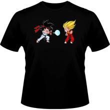 T-shirts  parodique Sangoku et Végéta X Ryu et Ken : Super Kamehadoken !! (Parodie )