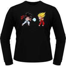 T-Shirts à manches longues  parodique Sangoku et Végéta X Ryu et Ken : Super Kamehadoken !! (Parodie )