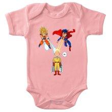 Funny  Baby Bodysuit (Baby Girls) - Saitama, Son Goku et Superman ( Parody) (Ref:937)