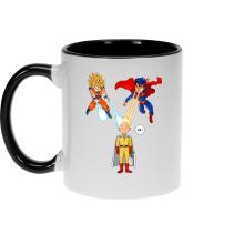 Funny  Mug - Saitama, Son Goku et Superman ( Parody) (Ref:937)