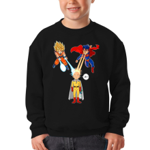 Funny  Kids Sweater - Saitama, Son Goku et Superman ( Parody) (Ref:937)