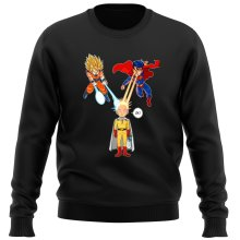 Funny  Sweater - Saitama, Son Goku et Superman ( Parody) (Ref:937)