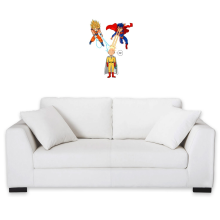 Funny  Wall Sticker - Saitama, Son Goku et Superman ( Parody) (Ref:937)