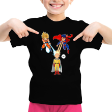 Funny  Girls Kids T-shirt - Saitama, Son Goku et Superman ( Parody) (Ref:937)