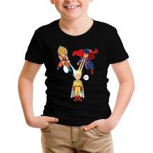 Funny  Kids T-Shirt - Saitama, Son Goku et Superman ( Parody) (Ref:937)