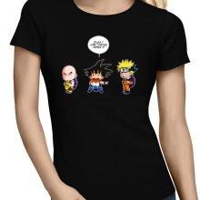 T-shirts Femmes  parodique Sangoku et Naruto : Tortue ninja !? (Parodie )