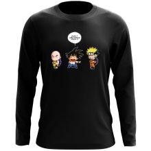 T-Shirt à manches longues  parodique Sangoku et Naruto : Tortue ninja !? (Parodie )