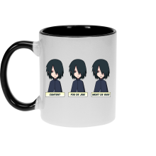 Mug  parodique Sasuke Uchiwa : Toujours aussi expressif... (Parodie )