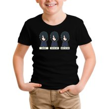 T-shirt Enfant  parodique Sasuke Uchiwa : Toujours aussi expressif... (Parodie )