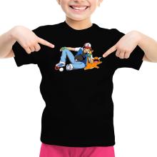 T-shirts  parodique Salamèche et Sasha : Un briquet bien pratique :) (Parodie )