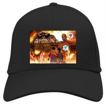Casquette  parodique Luffy, Kaido, Eren Jager et le Titan Colossal : Un Combat Titanesque piraté... !! (Parodie )
