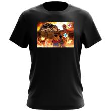 T-shirt  parodique Luffy, Kaido, Eren Jager et le Titan Colossal : Un Combat Titanesque piraté... !! (Parodie )