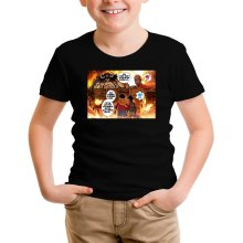 T-shirt Enfant  parodique Luffy Vs Kaido aka Eren et le Titan Colossal : Un Combat titanesque... (Parodie )
