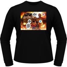 T-Shirts à manches longues  parodique Luffy Vs Kaido aka Eren et le Titan Colossal : Un Combat titanesque... (Parodie )