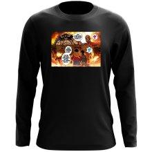 T-Shirt à manches longues  parodique Luffy Vs Kaido aka Eren et le Titan Colossal : Un Combat titanesque... (Parodie )