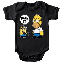 Body bébé  parodique Homer Simpson et Kévin le Minion : Un fiston trop mignon (Super Deformed) (Parodie )