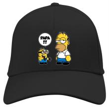 Casquette  parodique Homer Simpson et Kévin le Minion : Un fiston trop mignon (Super Deformed) (Parodie )