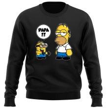 Pull  parodique Homer Simpson et Kévin le Minion : Un fiston trop mignon (Super Deformed) (Parodie )