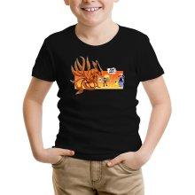 T-shirts  parodique Naruto et Kyubi X Sasha et Pikachu : Un nouveau dresseur... (Parodie )