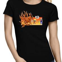 T-shirts Femmes  parodique Naruto et Kyubi X Sasha et Pikachu : Un nouveau dresseur... (Parodie )