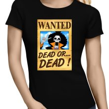 T-shirts Femmes  parodique Brook Wanted : Un Wanted qui tue !! YOHOHOHO !!! (Parodie )