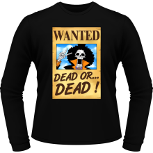 T-Shirts à manches longues  parodique Brook Wanted : Un Wanted qui tue !! YOHOHOHO !!! (Parodie )