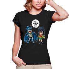 T-shirts Femmes  parodique Batman et Robin : Une équipe de choc !! (Parodie )
