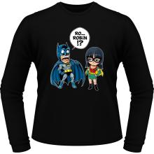 T-Shirts à manches longues  parodique Batman et Robin : Une équipe de choc !! (Parodie )