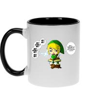Mug  parodique Link et la Fée Navi : Une fée pratique mais agaçante... (Parodie )